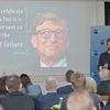 Leonard Diepenbrock warb in seinem Vortrag in Weingarten für unternehmerische Kreativität und den Mut, auch mal Fehler zu machen. Bild: IHK/Derek Schuh
